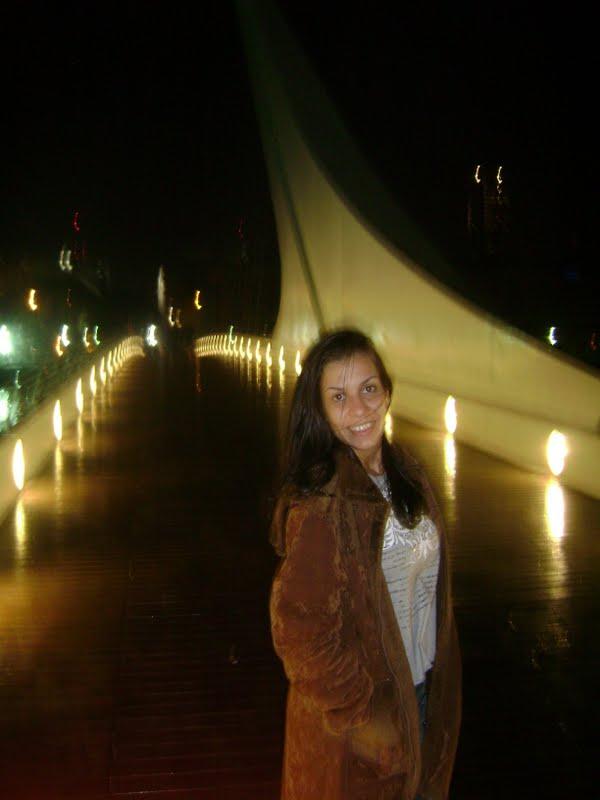 Ponte de La Mujer em Buenos Aires pela primeira vez