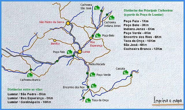 Mapa de Atrações São Pedro da Serra